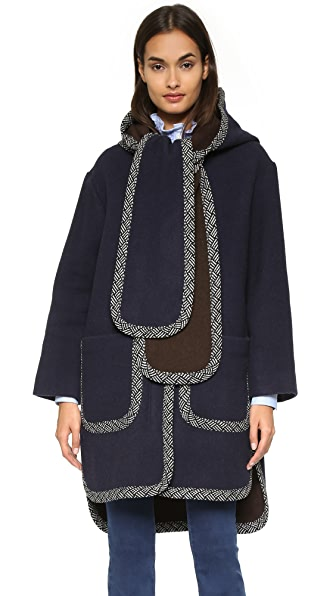 See by Chloe Hooded Scarf Coat
