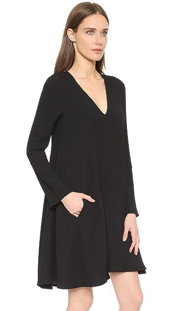 See by Chloe V Neck Long Sleeve Dress