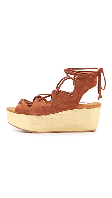 See by Chloe Liana Platform Lace Up Sandals