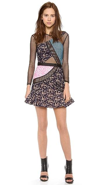 Self Portrait Lace Color Bomb Dress