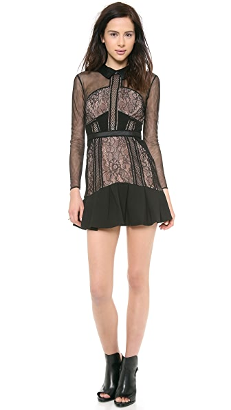 Self Portrait Sheer Light Dress