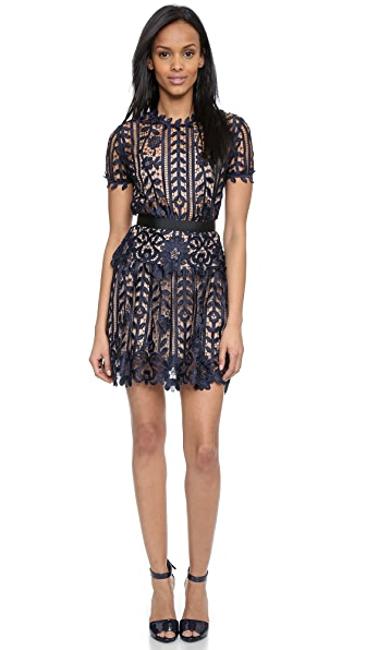 Self Portrait Lace A Line Dress | SHOPBOP