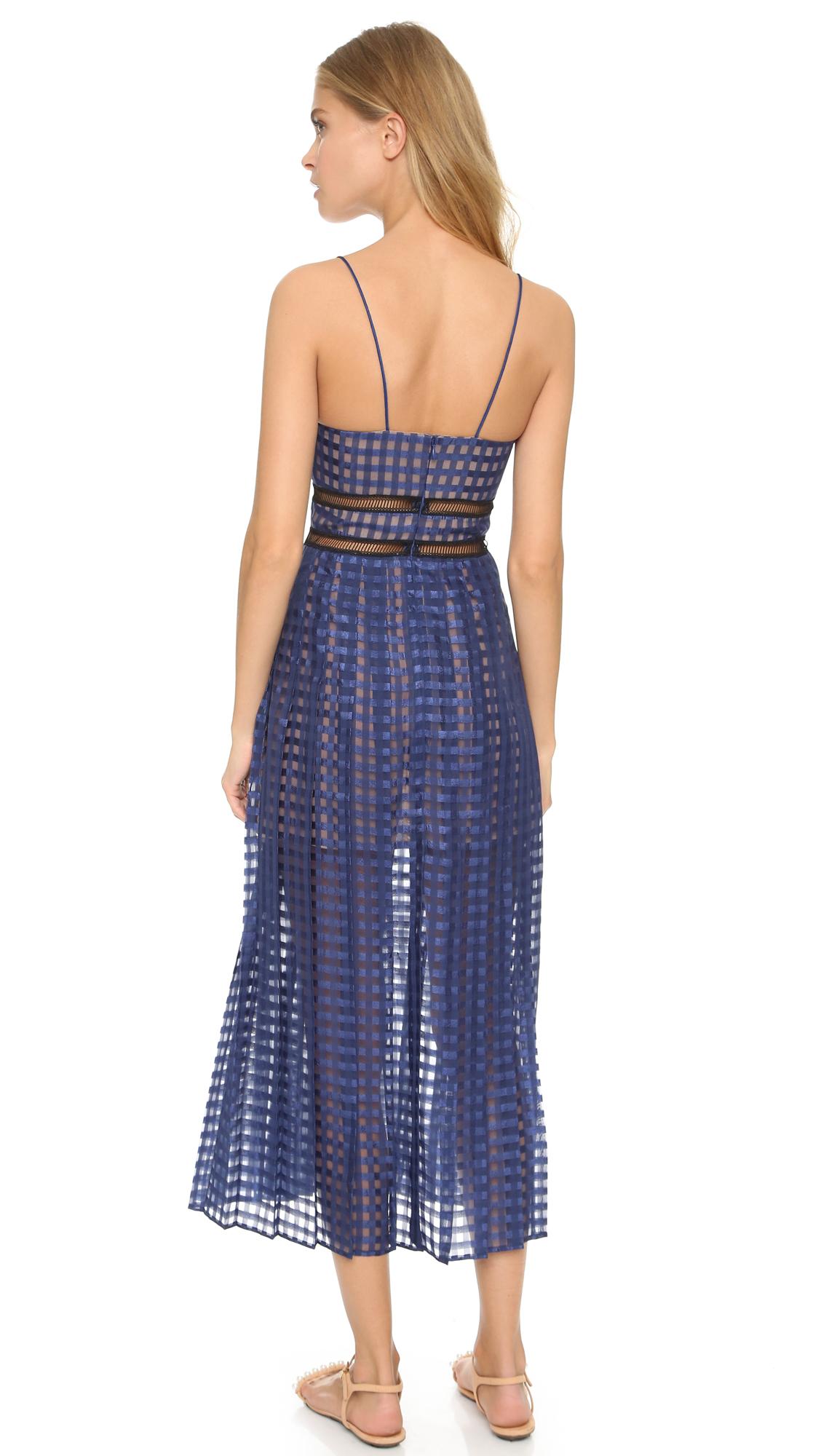 Self Portrait Box Pleated Cami Dress Shopbop Gm Fuse Split
