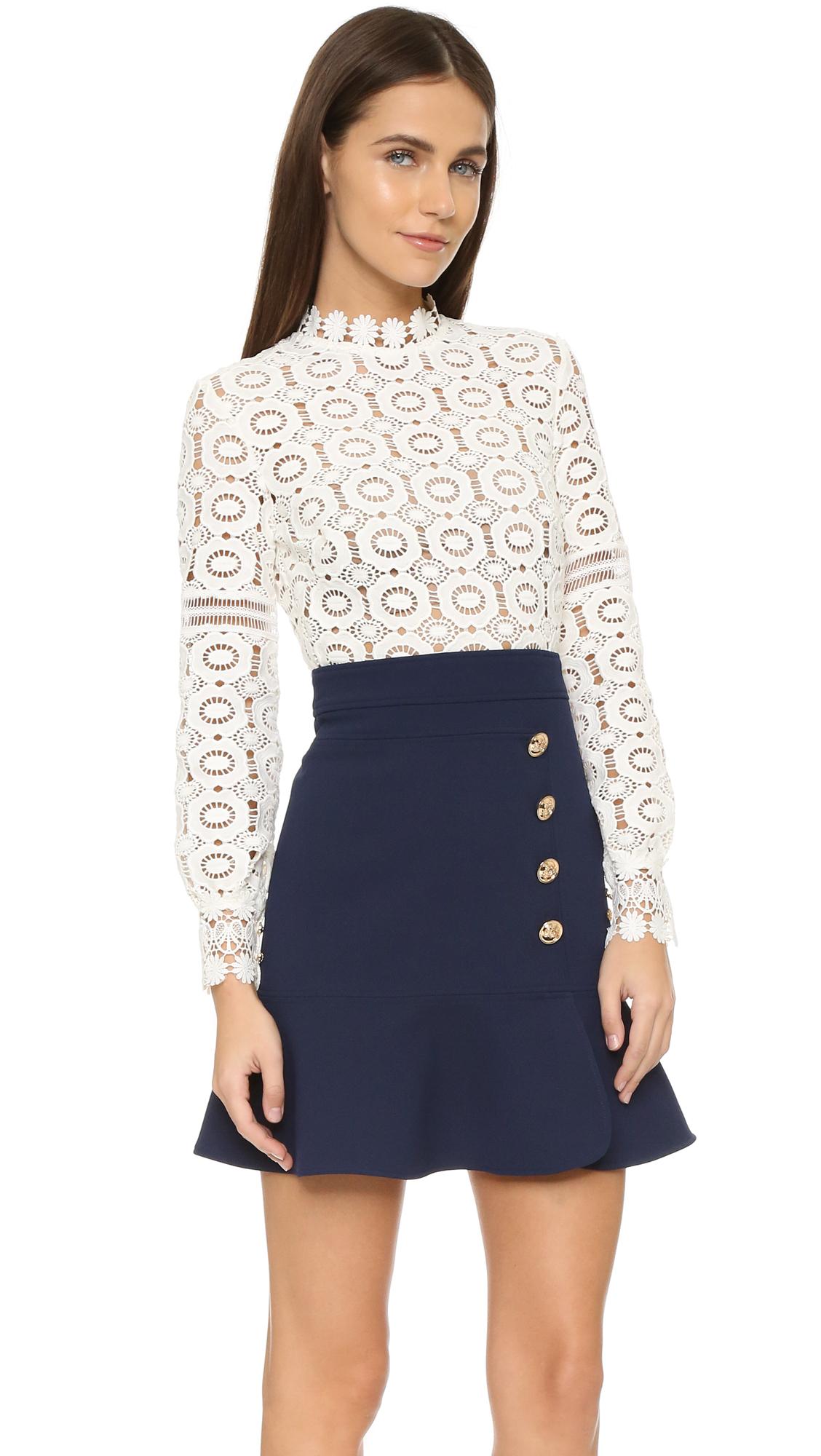 028912239 Self Portrait Crochet A Line Dress | SHOPBOP
