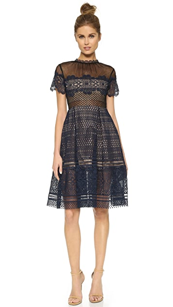 Self Portrait Felicia Embroidered Dress