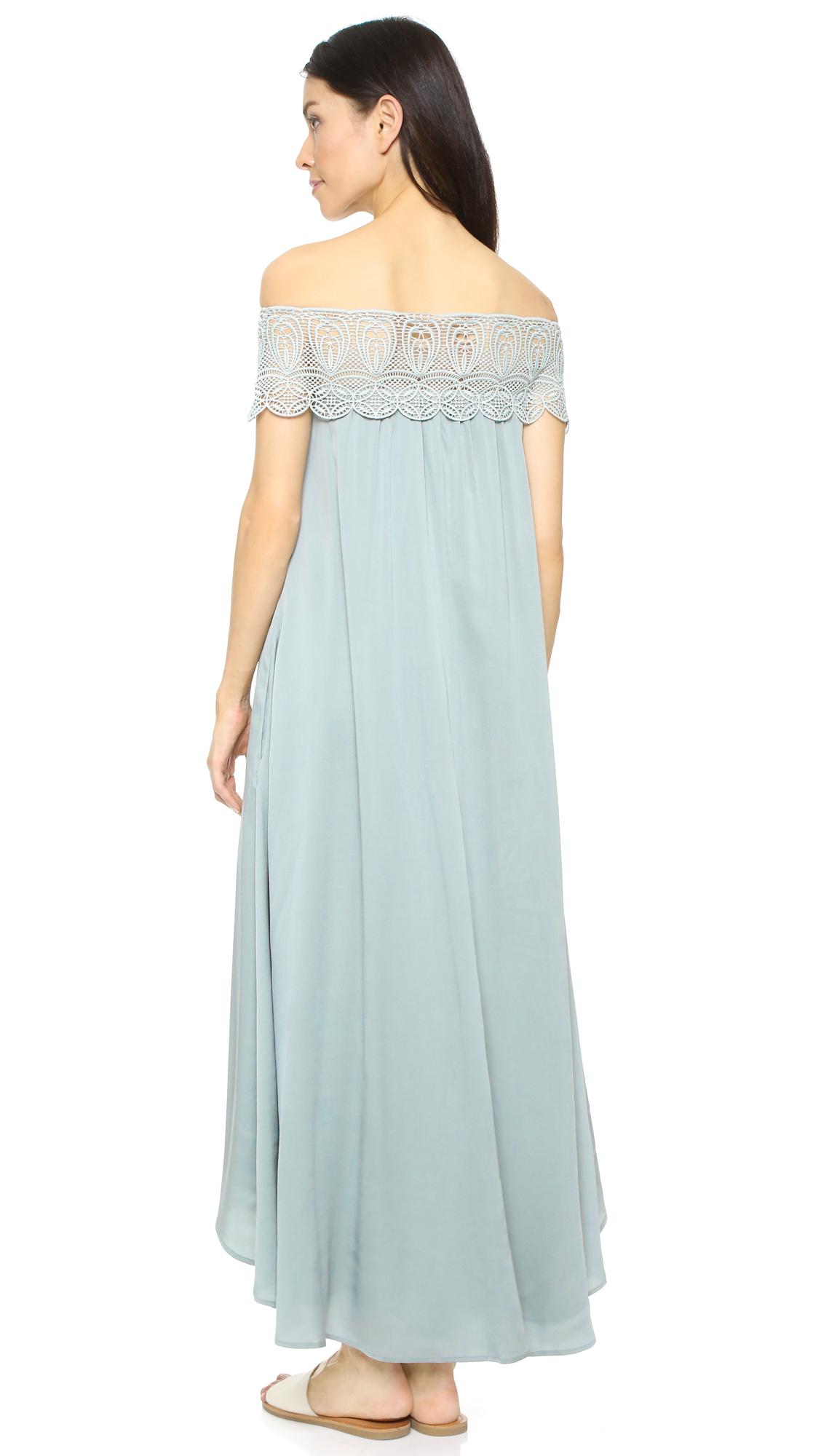 Self Portrait Lace Shoulder Maxi Dress | SHOPBOP