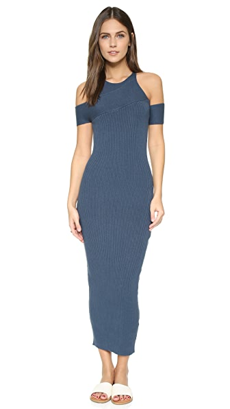 Self Portrait Wrap Effect Knit Dress