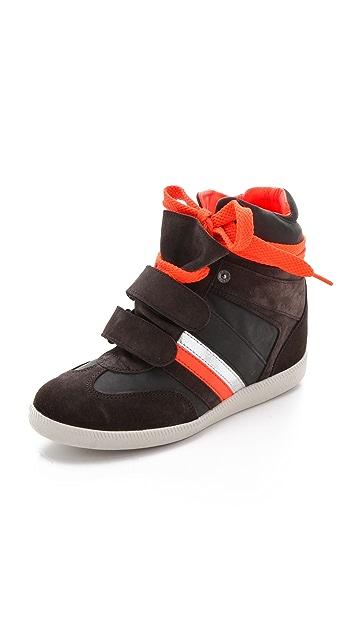 Serafini Manhattan Fluoro Wedge Sneakers