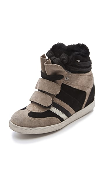 Serafini Manhattan Fur Sneakers