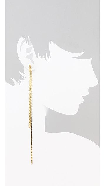 serefina Vintage Shoulder Sweeper Earrings