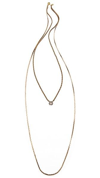 serefina Lone Gem Layering Necklace