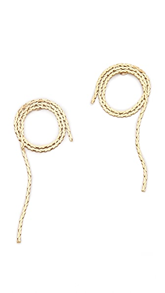 serefina Vintage Chain Rope Stud Earrings