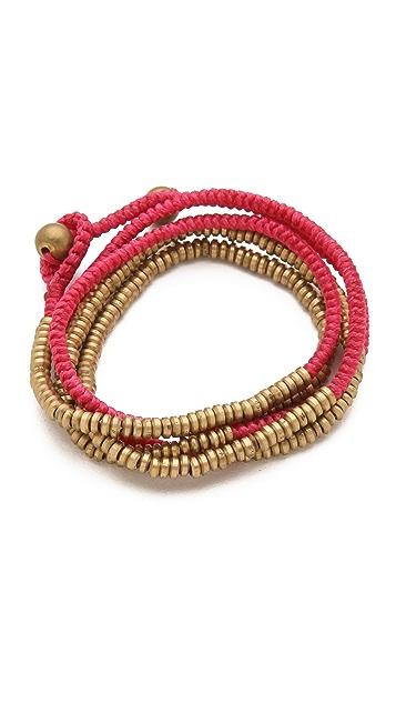 serefina Tripe Wrap Heishi Bracelet