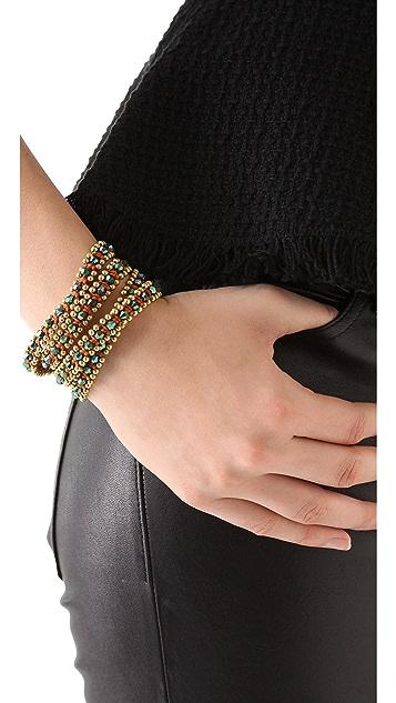 serefina Triple Wrap Crystal Bracelet