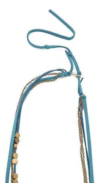 serefina Suede & Chain Headband / Necklace