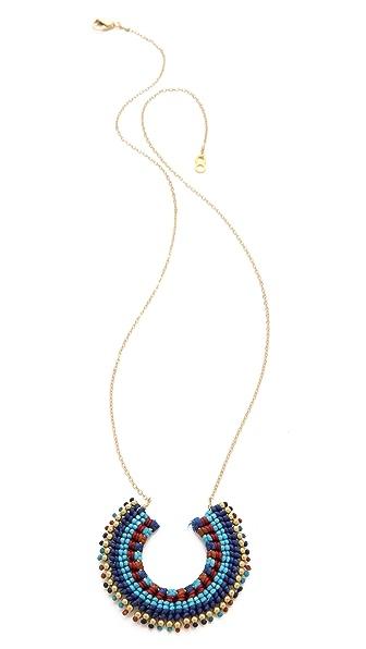 serefina Aztec Crescent Necklace