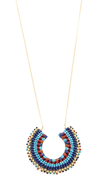 serefina Aztec Crescent Necklace