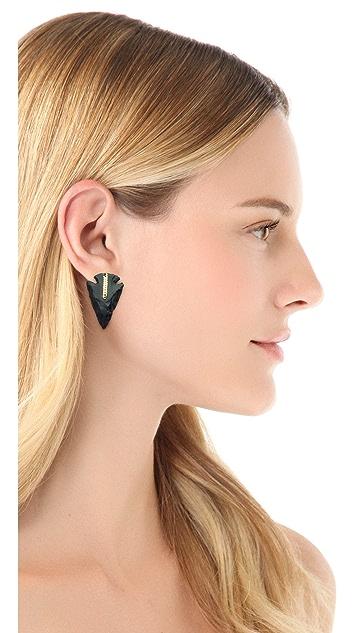 serefina Arrowhead Stud Earrings