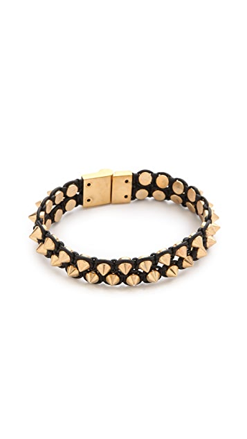 serefina Spike & Leather Luxe Cuff
