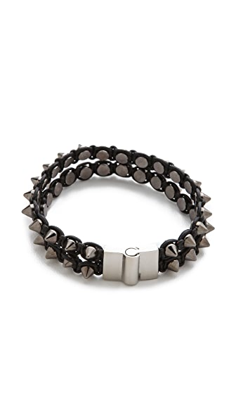 serefina Spike & Leather Luxe Bracelet