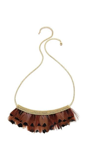 serefina Feather Bib Necklace