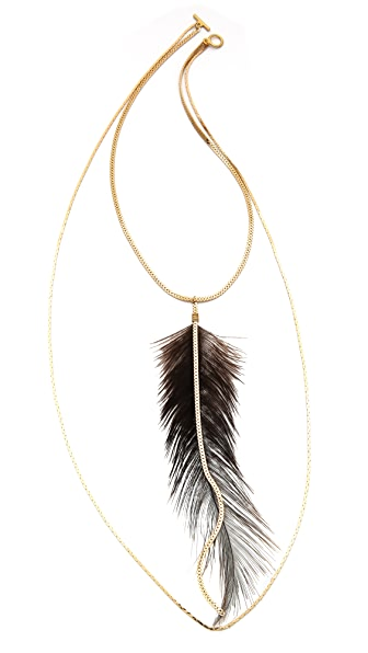 serefina Long Feather Necklace