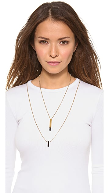 serefina Double Layer Onyx Necklace
