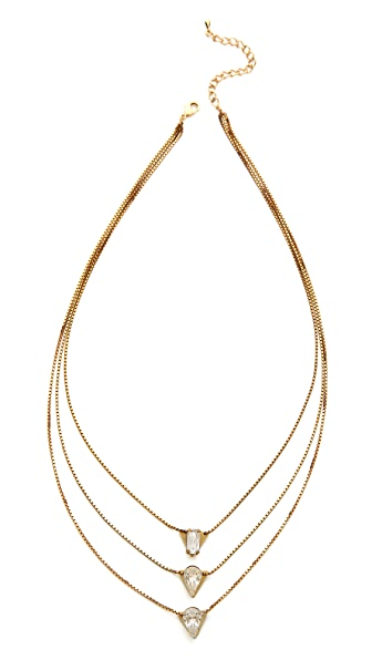 serefina Triple Crystal Layer Necklace