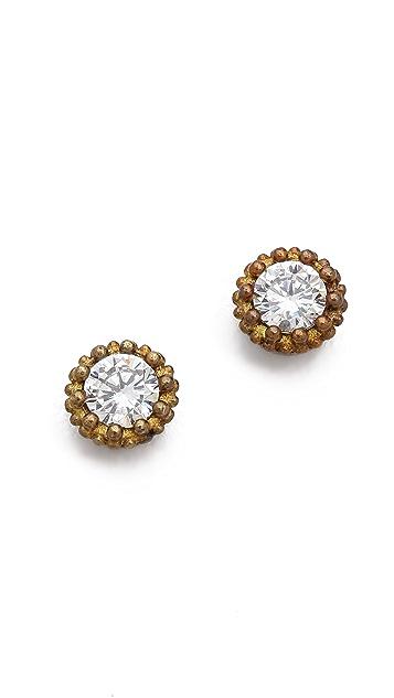 serefina Small Circle Crystal Earrings