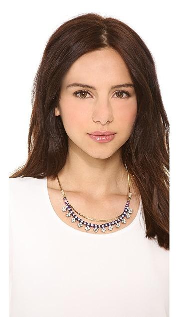 serefina Crystal Station Necklace