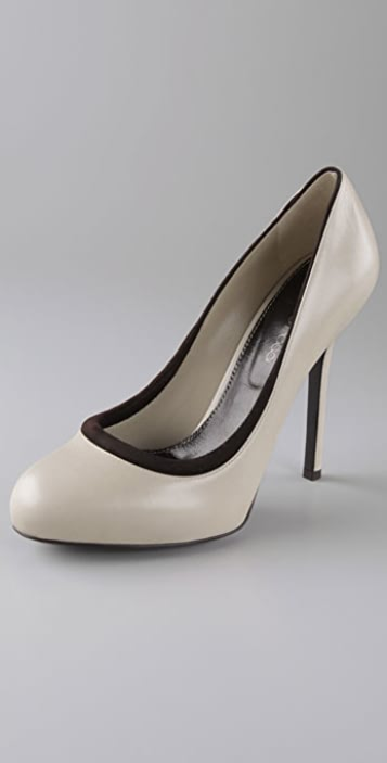 Sergio Rossi Betty Pumps with Suede Piping