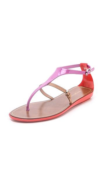 Sergio Rossi Strap Flat Sandals