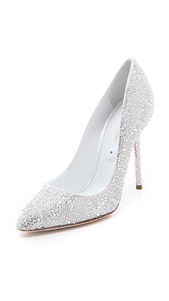 Sergio Rossi All Over Strass Pumps
