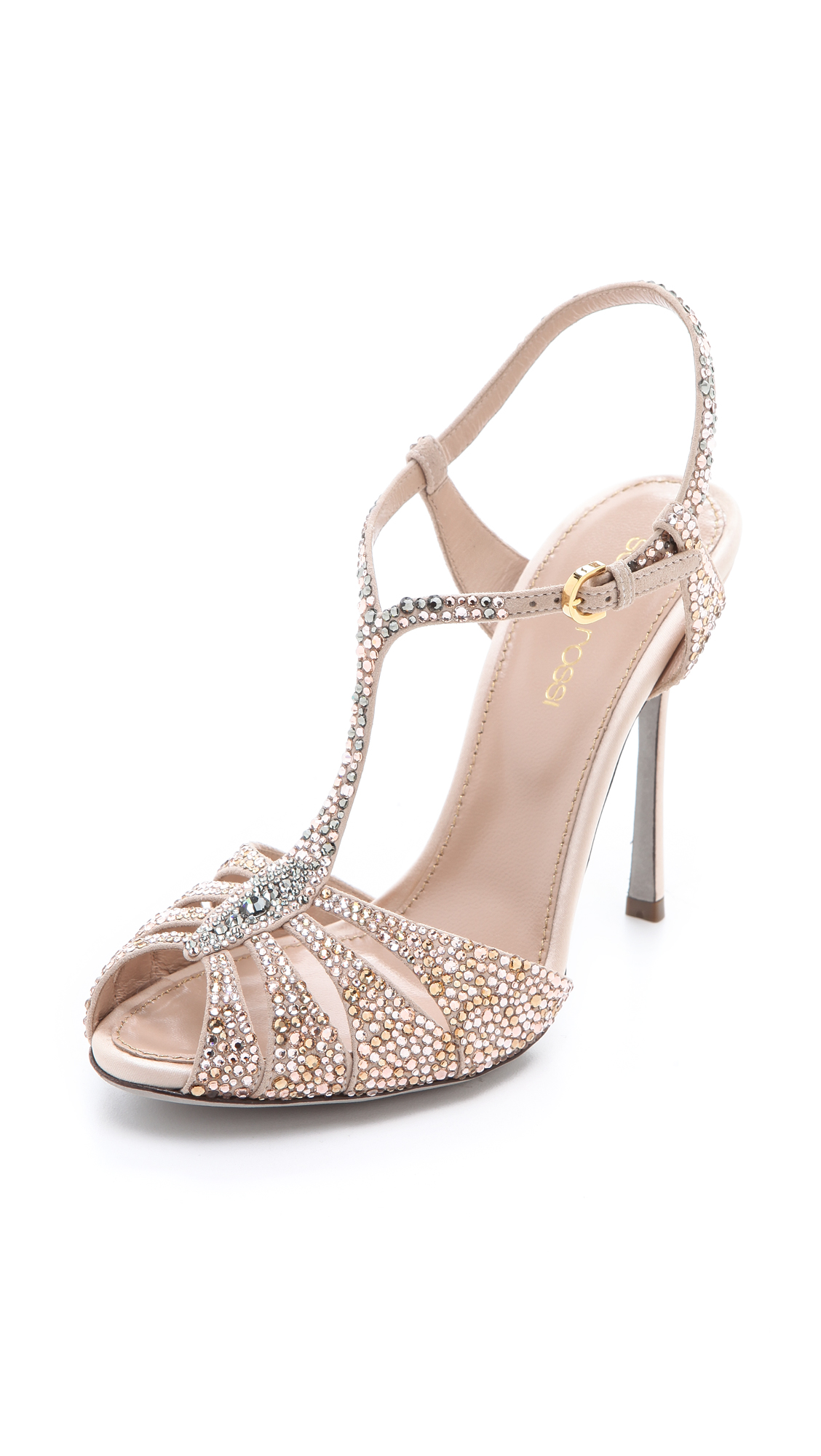 Sergio Rossi Nude Suede Sandals at SHOPBOP.COM - FASTEST FREE SHIPPING WORLDWIDE. Buy Sergio Rossi Online