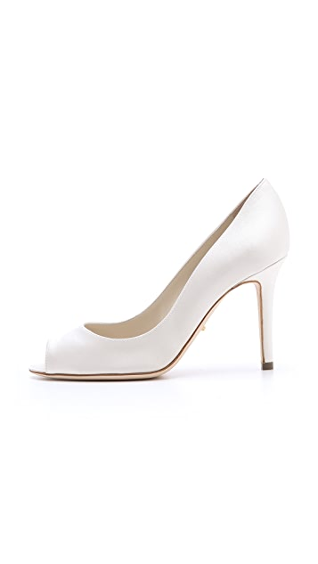 Sergio Rossi Satin Bridal Pumps