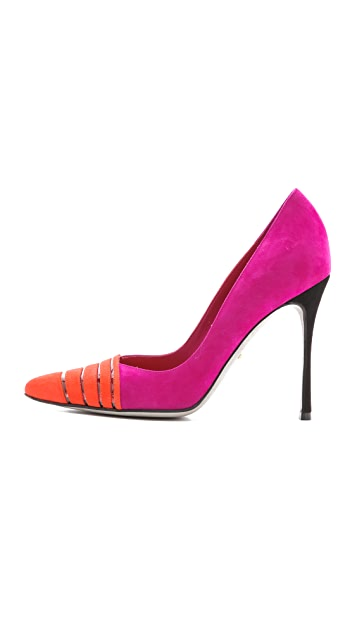 Sergio Rossi Pointy Suede Pumps