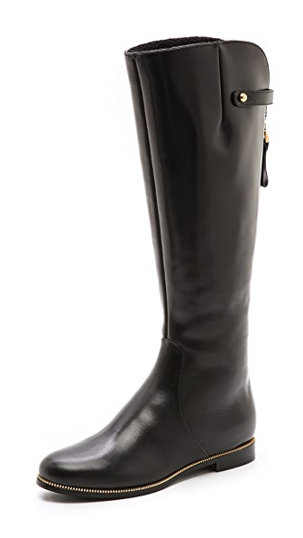 Sergio Rossi Flat Leather Boots