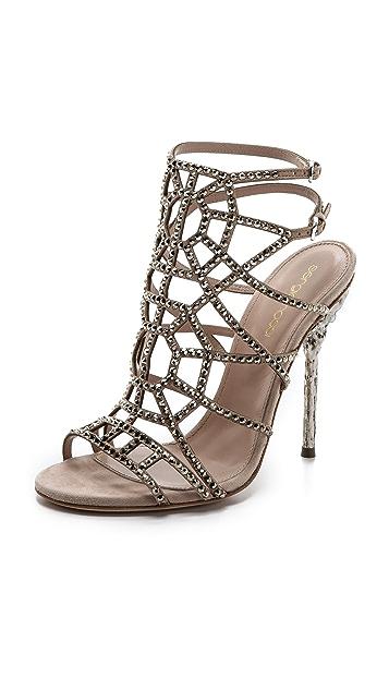 Sergio Rossi Puzzle Evening Sandals
