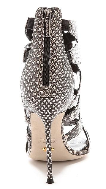 Sergio Rossi Meccano Stiletto Sandals