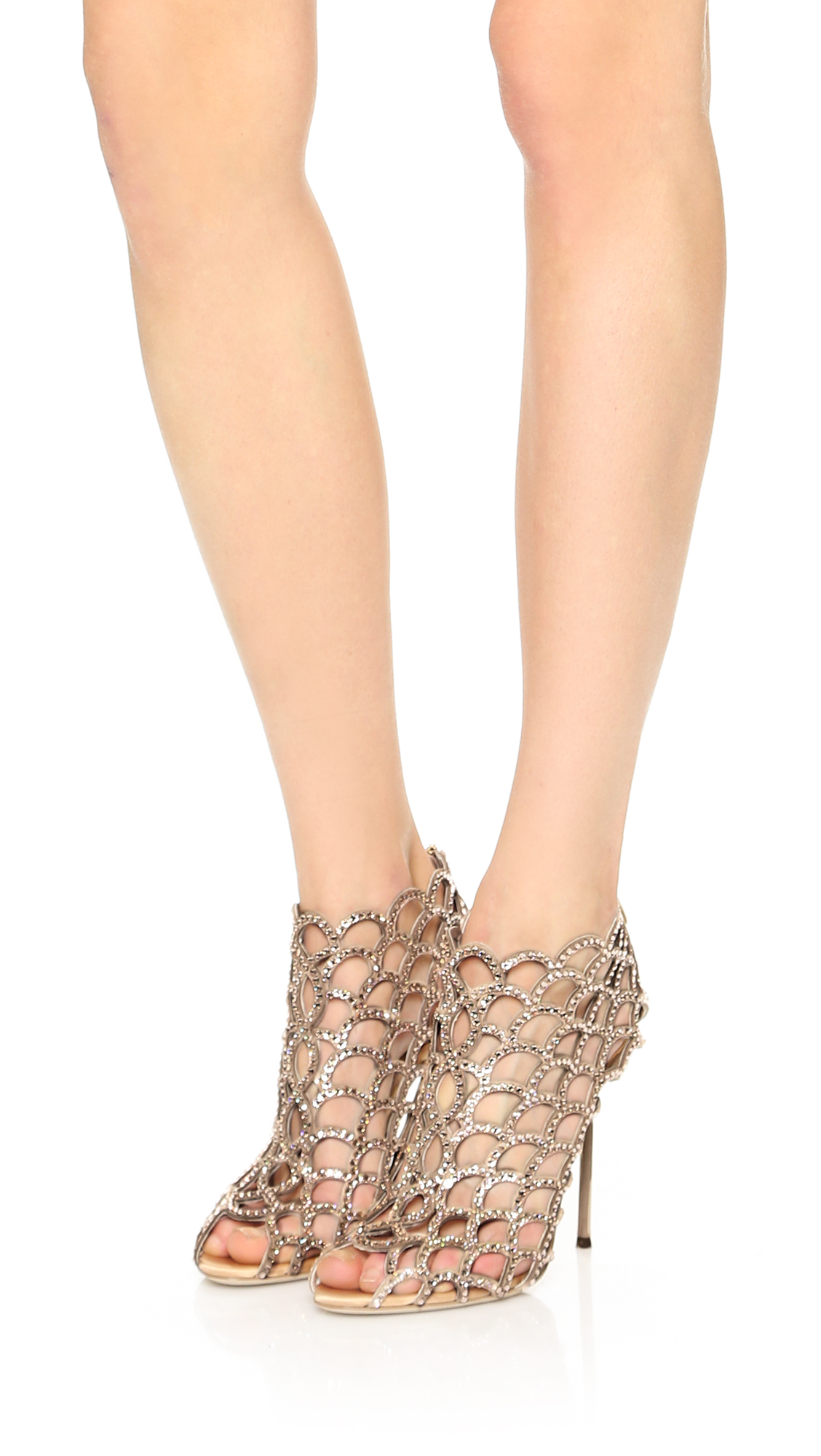 ed9fa6880 Sergio Rossi Mermaid Cage Booties