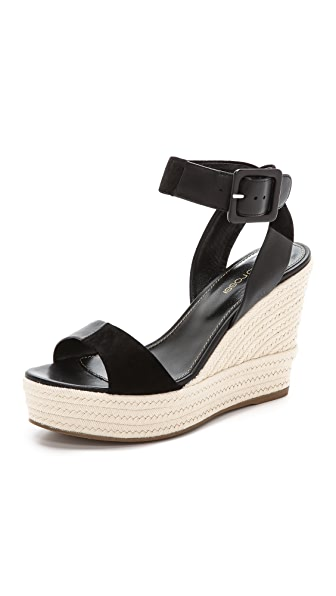Sergio Rossi Wedge Suede Sandals