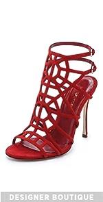 Suede Puzzle Sandals                Sergio Rossi