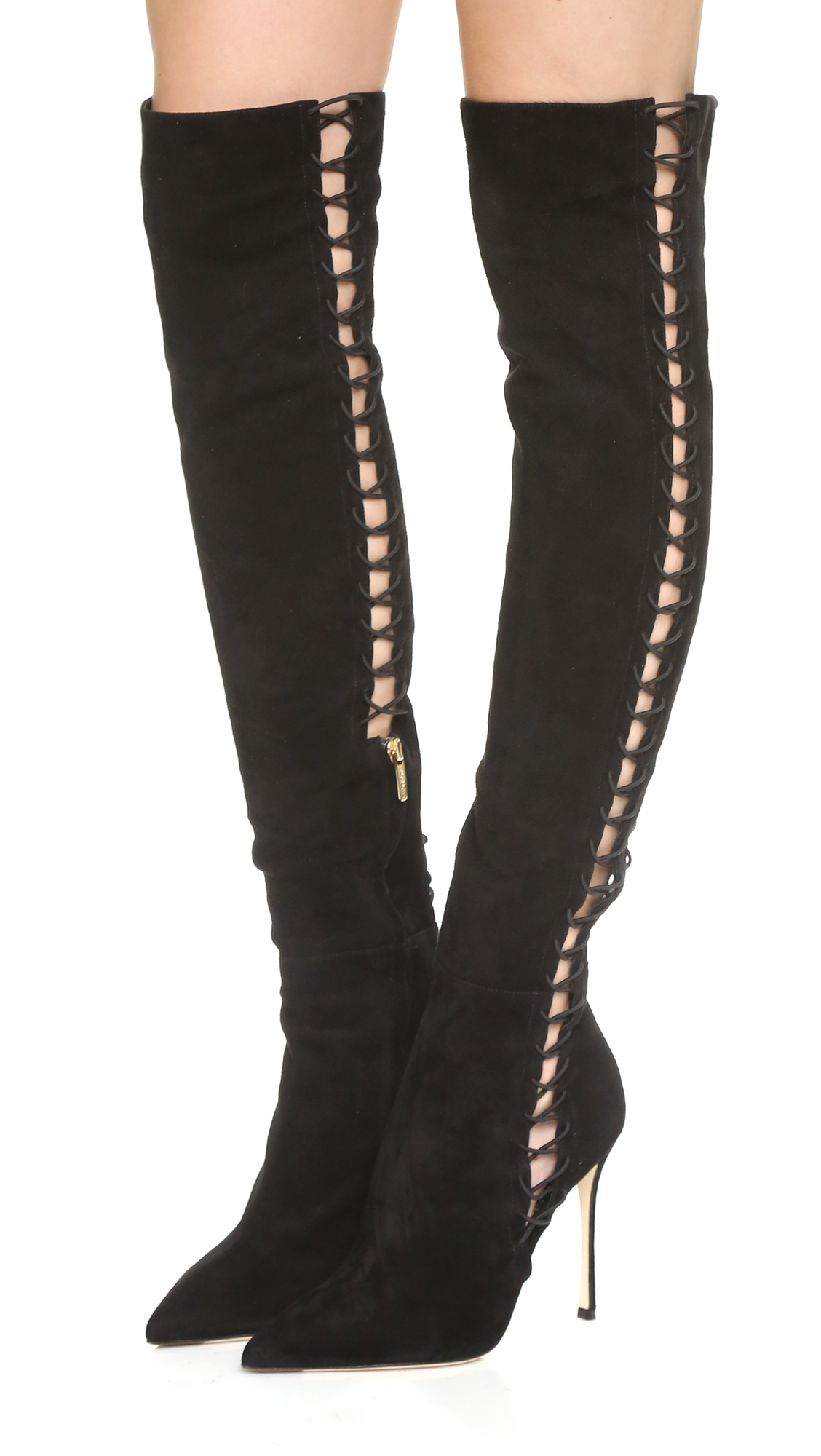 Sergio Rossi Lace-Up Knee Boots cheap sale the cheapest outlet with paypal clearance prices Uf78Fey