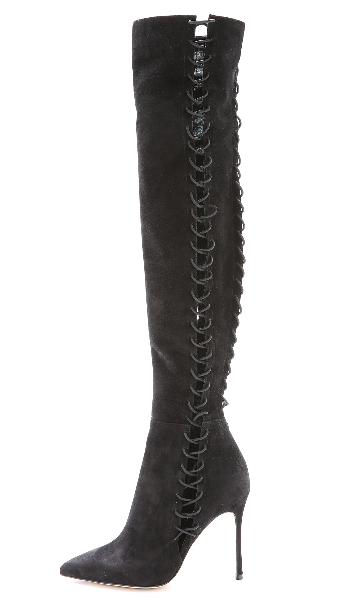 Sergio Rossi Suede Over-the-Knee Boots Gr. IT 38.5 Q3Zfn2fbVl