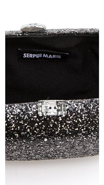 Serpui Marie Divine Glitter Minaudiere with Tassel