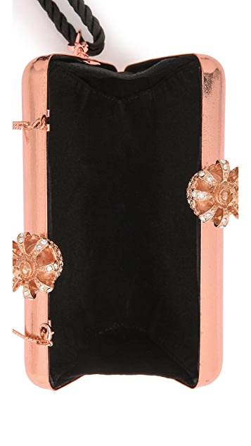 Serpui Marie Metallic Crown Clutch