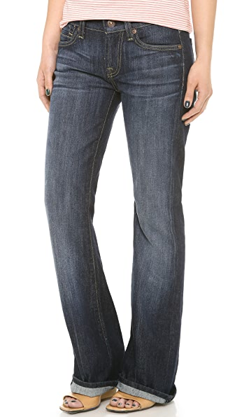 7 For All Mankind Boot Cut Flip Flop Jeans