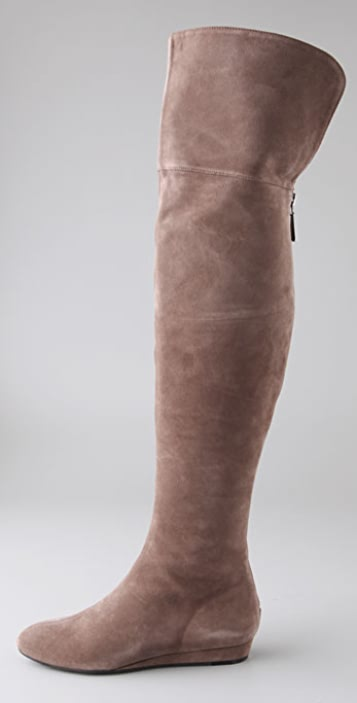 7 For All Mankind Galley Suede Over the Knee Flat Boots
