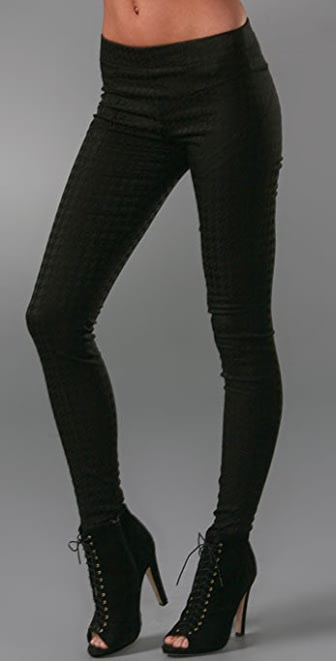 7 For All Mankind Houndstooth Seam Leggings