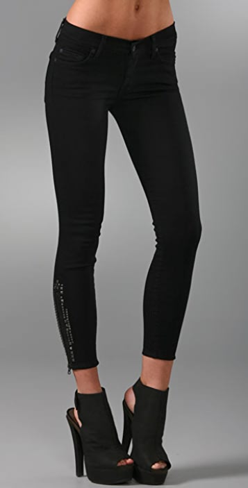 7 For All Mankind Gwenevere Crop Skinny Jeans
